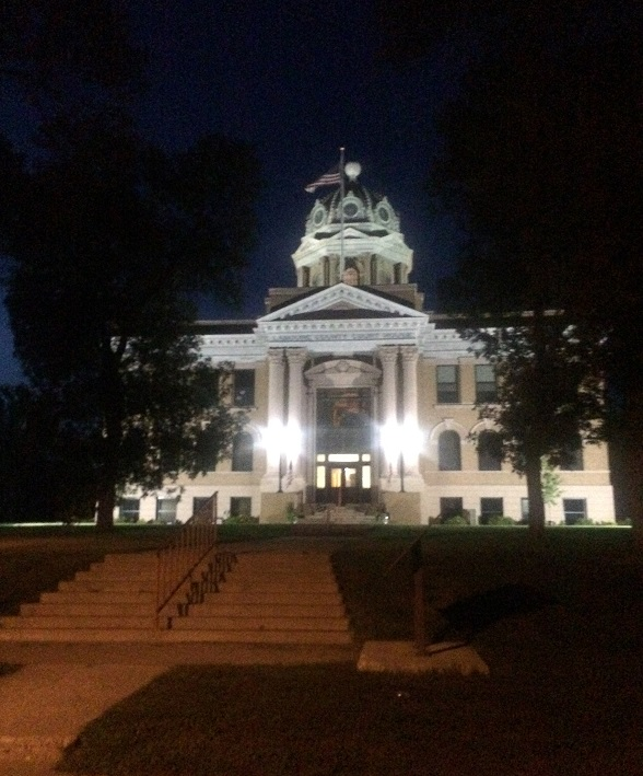 Courthouse at night